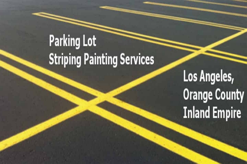 Los Angeles Parking Lot Line Painting